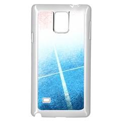 Court Sport Blue Red White Samsung Galaxy Note 4 Case (white)