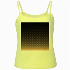 Halftone Background Pattern Black Yellow Spaghetti Tank