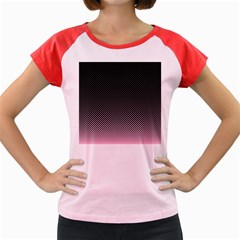 Halftone Background Pattern Black Women s Cap Sleeve T Shirt