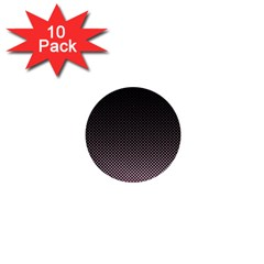 Halftone Background Pattern Black 1  Mini Buttons (10 Pack)