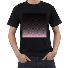 Halftone Background Pattern Black Men s T Shirt (black) (two Sided)