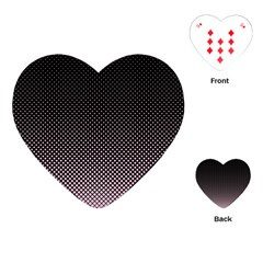 Halftone Background Pattern Black Playing Cards (heart)