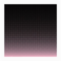 Halftone Background Pattern Black Medium Glasses Cloth (2 Side)