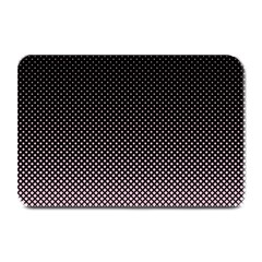 Halftone Background Pattern Black Plate Mats