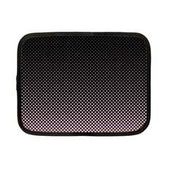 Halftone Background Pattern Black Netbook Case (small)
