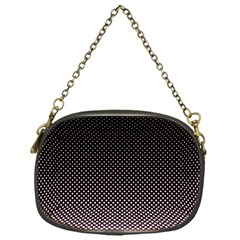 Halftone Background Pattern Black Chain Purses (one Side)