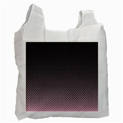 Halftone Background Pattern Black Recycle Bag (one Side)