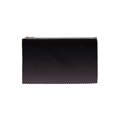 Halftone Background Pattern Black Cosmetic Bag (small)