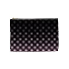 Halftone Background Pattern Black Cosmetic Bag (medium)