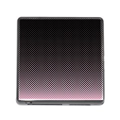 Halftone Background Pattern Black Memory Card Reader (square)