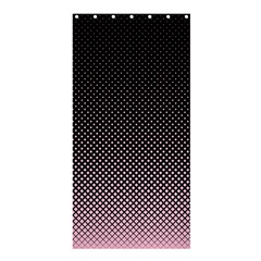 Halftone Background Pattern Black Shower Curtain 36  X 72  (stall)