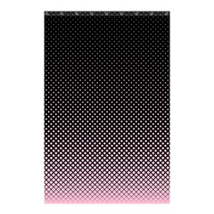 Halftone Background Pattern Black Shower Curtain 48  X 72  (small)
