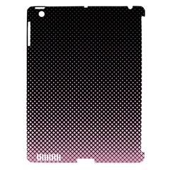 Halftone Background Pattern Black Apple Ipad 3/4 Hardshell Case (compatible With Smart Cover)