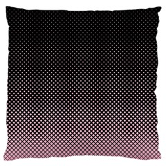 Halftone Background Pattern Black Large Cushion Case (two Sides)