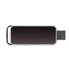 Halftone Background Pattern Black Portable Usb Flash (two Sides)