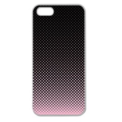 Halftone Background Pattern Black Apple Seamless Iphone 5 Case (clear)