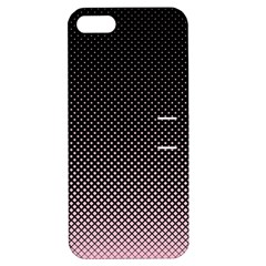 Halftone Background Pattern Black Apple Iphone 5 Hardshell Case With Stand