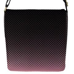 Halftone Background Pattern Black Flap Messenger Bag (s)