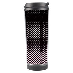 Halftone Background Pattern Black Travel Tumbler
