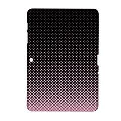 Halftone Background Pattern Black Samsung Galaxy Tab 2 (10 1 ) P5100 Hardshell Case