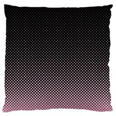Halftone Background Pattern Black Large Flano Cushion Case (one Side)