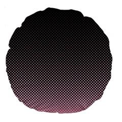 Halftone Background Pattern Black Large 18  Premium Flano Round Cushions