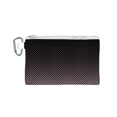 Halftone Background Pattern Black Canvas Cosmetic Bag (s)