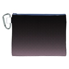 Halftone Background Pattern Black Canvas Cosmetic Bag (xxl)