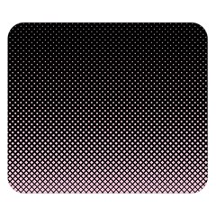 Halftone Background Pattern Black Double Sided Flano Blanket (small)