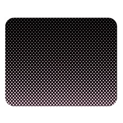 Halftone Background Pattern Black Double Sided Flano Blanket (large)