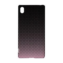Halftone Background Pattern Black Sony Xperia Z3+