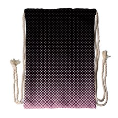 Halftone Background Pattern Black Drawstring Bag (large)