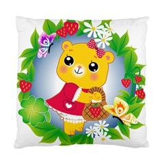 Bear Strawberries Standard Cushion Case (one Side)