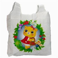 Bear Strawberries Recycle Bag (one Side)