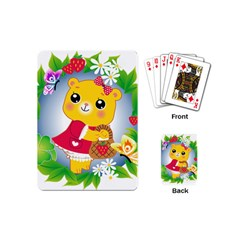 Bear Strawberries Playing Cards (mini)