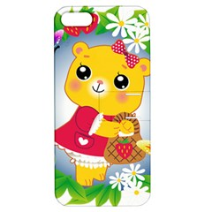Bear Strawberries Apple Iphone 5 Hardshell Case With Stand