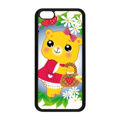 Bear Strawberries Apple Iphone 5c Seamless Case (black)