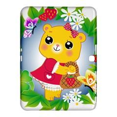 Bear Strawberries Samsung Galaxy Tab 4 (10 1 ) Hardshell Case