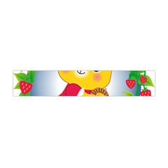 Bear Strawberries Flano Scarf (mini)