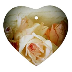 Roses Vintage Playful Romantic Ornament (heart)