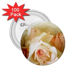 Roses Vintage Playful Romantic 2 25  Buttons (100 Pack)