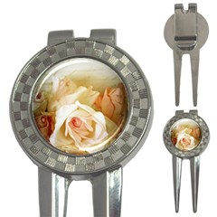 Roses Vintage Playful Romantic 3 In 1 Golf Divots