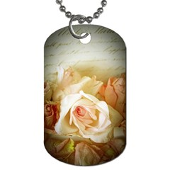 Roses Vintage Playful Romantic Dog Tag (two Sides)