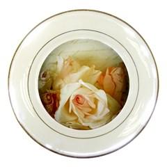 Roses Vintage Playful Romantic Porcelain Plates