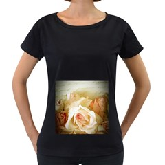 Roses Vintage Playful Romantic Women s Loose Fit T Shirt (black)