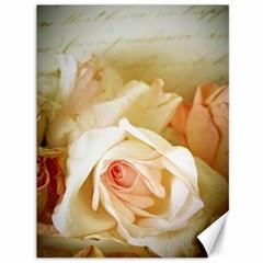 Roses Vintage Playful Romantic Canvas 36  X 48