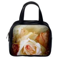 Roses Vintage Playful Romantic Classic Handbags (one Side)