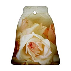 Roses Vintage Playful Romantic Bell Ornament (two Sides)