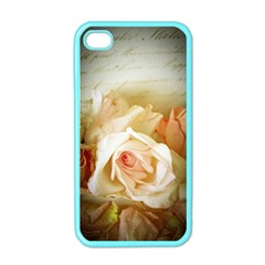 Roses Vintage Playful Romantic Apple Iphone 4 Case (color)