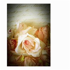 Roses Vintage Playful Romantic Small Garden Flag (two Sides)